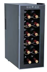 a narrow 12 bottle wine fridge
