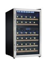 Danby 38 bottle wine cooler, dual zone, DWC113BLSDB