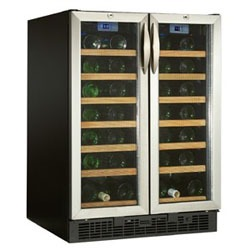 danby 54-bottle, Dual-Zone wine cooler with double door