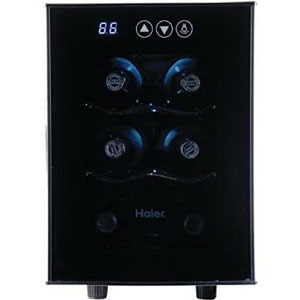 haier HVTEC06ABS wine cooler front view