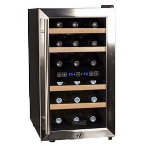 a 12 bottle dual zone wine cooler by Koldfront