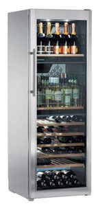 A elegant stainles steel wine cabinet by Liebherr
