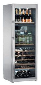 A elegant stainles steel wine cabinet by Liebherr