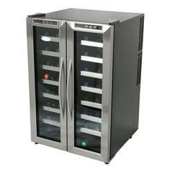 NewAir 32 bottle dual zone wine fridge with two doors