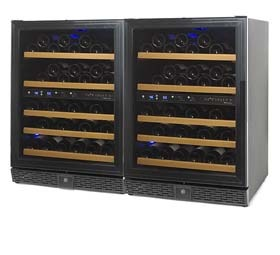 a 100-bottle, Multi temp wine cellar by N'FINITy