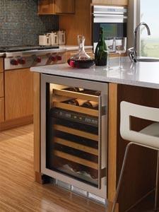 A Sub-Zero wine cellar for built-in use