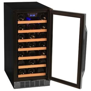 edgestar CWR301SZ wine cooler with open door