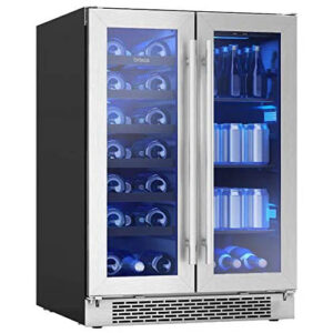 Zephyr Brisas 21-Bottle Wine & Beverage Cooler With French Door